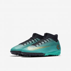 Детские сороконожки NIKE MERCURIALX SUPERFLY VI ACADEMY GS CR7 TF AJ3112-390 JR