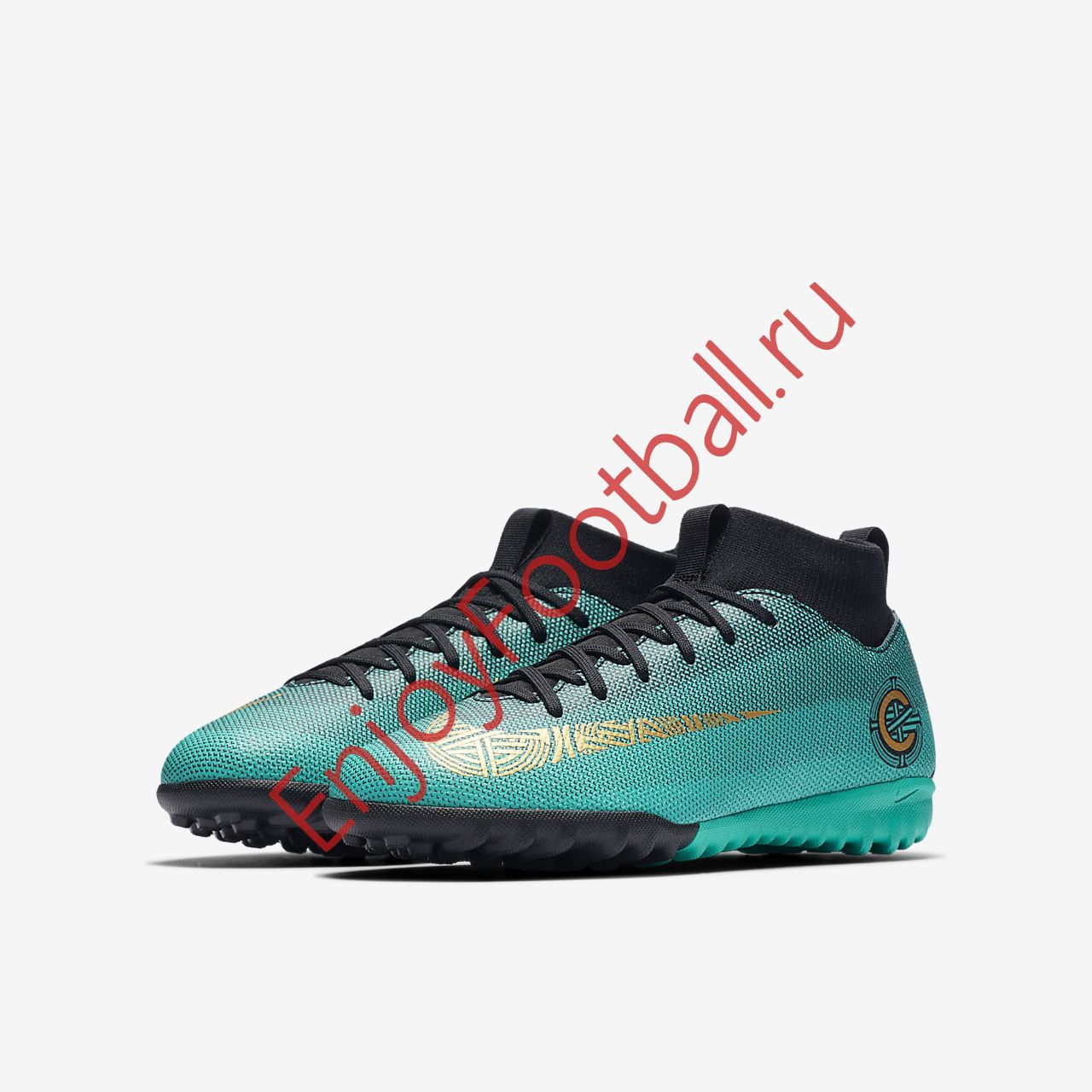 ee076e9a Детские сороконожки NIKE MERCURIALX SUPERFLY VI ACADEMY GS CR7 TF  AJ3112-390 JR