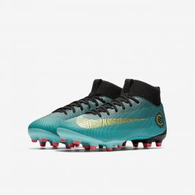 Детские бутсы NIKE SUPERFLY 6 ACADEMY GS CR7 FG/MG AJ3111-390 JR