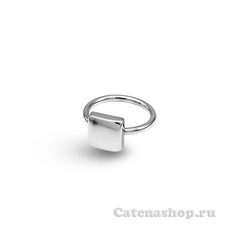 """Кольцо серебряное """"Кубик геометрический"""""""