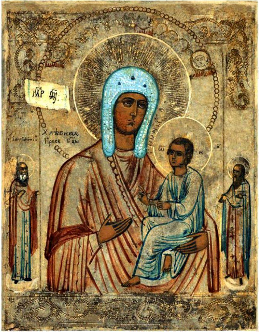 Икона Хлебная (Запечная) Божия Матерь