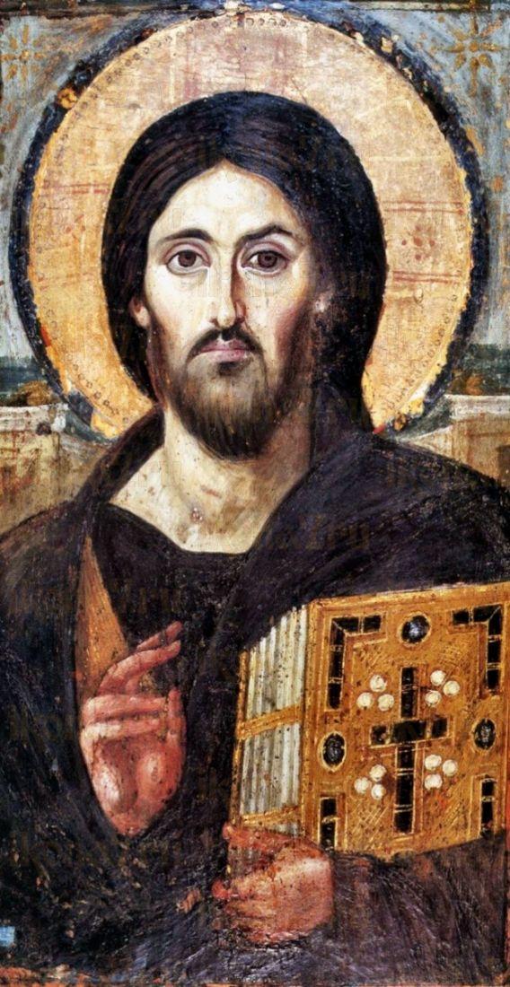 Христос Пантократор Синайский (копия иконы 6 века)