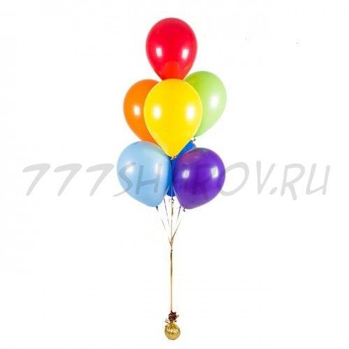 Фонтан из 7 шаров 30 см ассорти