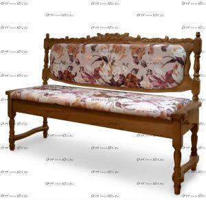 Кухонный диван Картрайд с резьбой (ВМК Шале)
