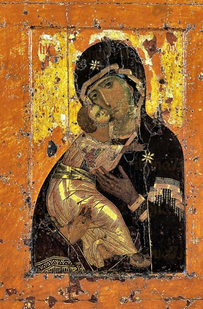 Икона Владимирская Божия Матерь 12 век