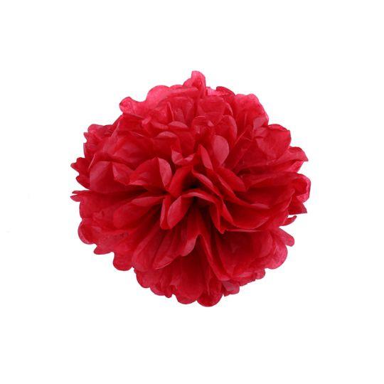 Помпон красный 15-20 см