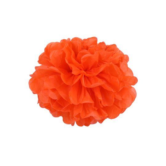Помпон оранжевый 30-35 см