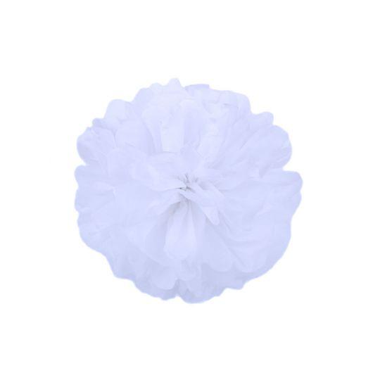 Помпон белый 30-35 см