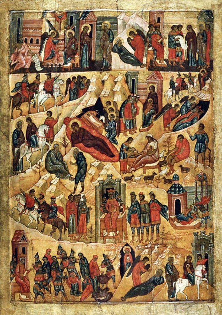Рождество Христово (копия старинной иконы)