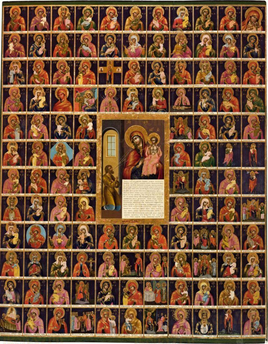 Икона Собор Божией Матери (19 век)