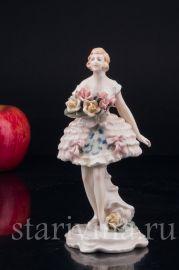 Балерина с букетом, Karl Ens, Германия, 1920-30 гг.