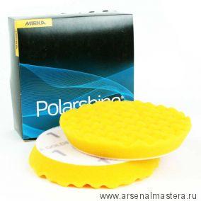 Диск полировальный Mirka N1 Golden Finish 155x25мм желтый рельефный, в упаковке 2 шт