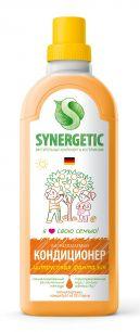 """""""Synergetic"""" Биоразлагаемый кондиционер-ополаскиватель для белья SYNERGETIC: цитрус фантазия, 1л."""