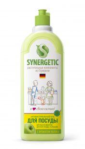"""""""Synergetic"""" Средство биоразлагаемое для мытья посуды, детс.игрушек SYNERGETIC с ароматом яблока, 5л"""