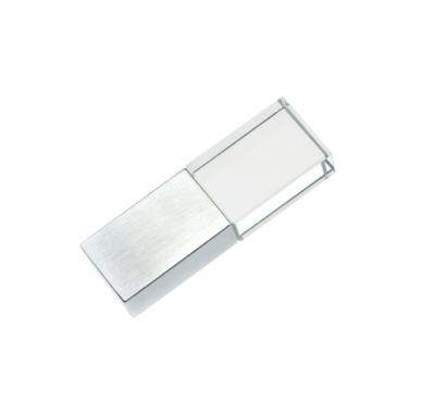 32GB USB-флэш накопитель Apexto UG-001 стеклянный, зеленый LED