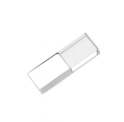 16GB USB-флэш накопитель Apexto UG-002 стеклянный, глянцевый метал, зеленый LED
