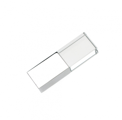 4GB USB-флэш накопитель Apexto UG-002 стеклянный, глянцевый метал, многоцвет LED