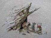 "Cross stitch pattern ""First snow""."