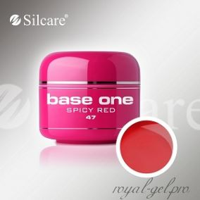 Цветной гель Silcare Base One Color Spicy Red *47 5 гр.