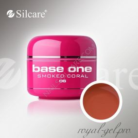 Цветной гель Silcare Base One Color Smoked Coral *06 5 гр.