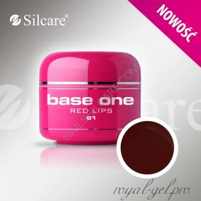 Цветной гель Silcare Base One Color Red Lips *91 5 гр.