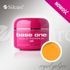 Цветной гель Silcare Base One Color Gold Pumpkin *95 5 гр.