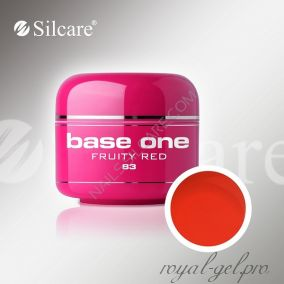Цветной гель Silcare Base One Color Fruitty Red *83 5 гр.
