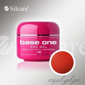 Цветной гель Silcare Base One Red Hot Chili Peppers *12 5 гр.