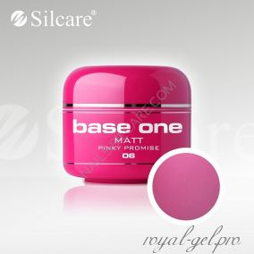 Цветной гель Silcare Base One Matt Pinky Promise *06 5 гр.