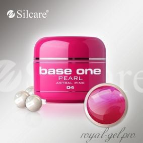 Цветной гель Silcare Base One Pearl Astral Pink *04 5 гр.