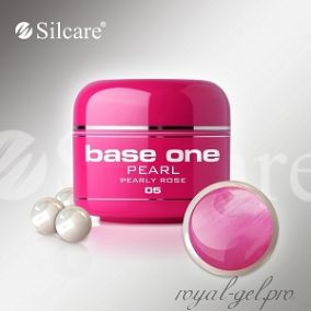 Цветной гель Silcare Base One Pearl Pearly Rose *05 5 гр.