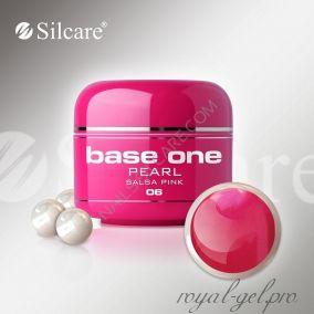 Цветной гель Silcare Base One Pearl Salsa Pink *06 5 гр.