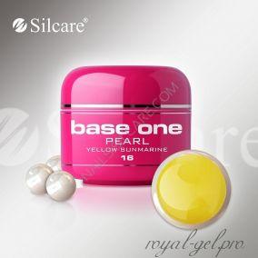 Цветной гель Silcare Base One Pearl Yellow Sunmarine *16 5 гр.