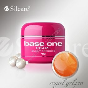 Цветной гель Silcare Base One Pearl Sunny Apricots *18 5 гр.