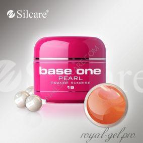 Цветной гель Silcare Base One Pearl Orange Sunrise *19 5 гр.