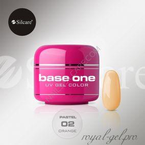 Цветной гель Silcare Base One Pastel Orange *02 5 гр.