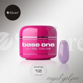 Цветной гель Silcare Base One Pastel Violet *12 5 гр.