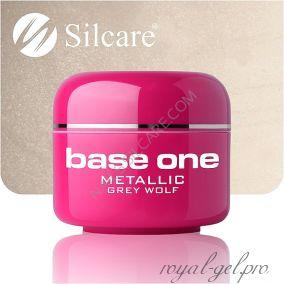 Цветной гель Silcare Base One Metallic Grey Wolf *14 5 гр.