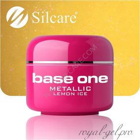 Цветной гель Silcare Base One Metallic Lemon Ice *25 5 гр.