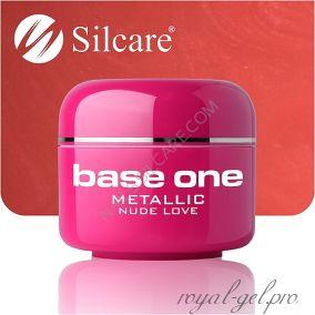 Цветной гель Silcare Base One Metallic Nude Love *30 5 гр.