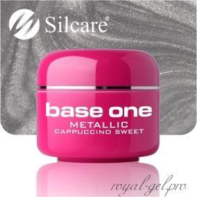 Цветной гель Silcare Base One Metallic Cappuccino Sweet *37 5 гр.