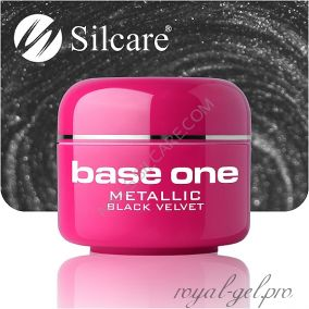 Цветной гель Silcare Base One Metallic Black Velvet *50 5 гр.