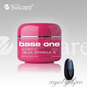 Цветной гель Silcare Base One Mystic Aurora Blue Sparkle *05 5 гр.