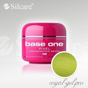 Цветной гель Silcare Base One Pixel Grasshopper Green *06 5 гр.