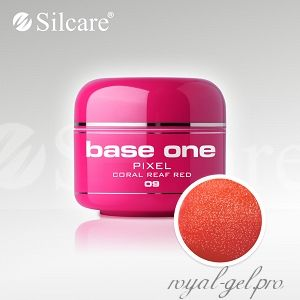 Цветной гель Silcare Base One Pixel Coral Reaf Red *09 5 гр.