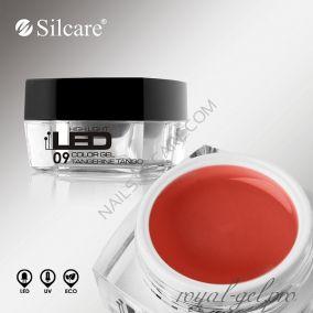 Цветной гель Silcare High Light Led Color Clear Tangerine Tango *09 4 гр.