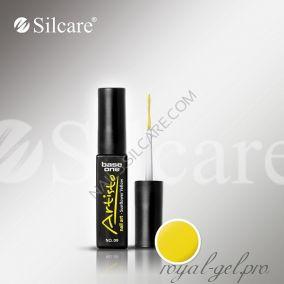 АРТ гель лак  Silcare Base One Artisto Nail Art Sunflower Yellow *09 10 гр