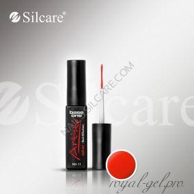 АРТ гель лак Silcare Base One Artisto Nail Art Red Affection *11 10 гр