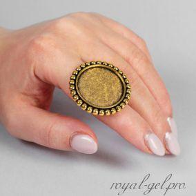 Палетка-кольцо для смешивания , цвет золото