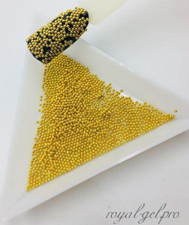 Бульонки для дизайна ногтей золото